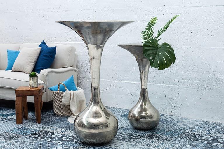 Große Deko-Vase MARRAKESCH NIGHTS 90cm hochwertige Metall-Aluminium-Legierung