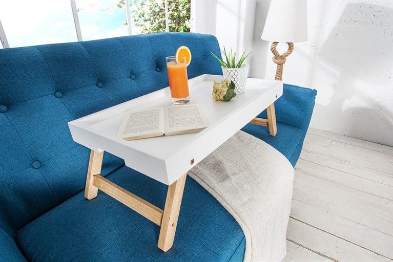Design retro 2er set beistelltische scandinavia wei eiche for Design sessel scandinavia