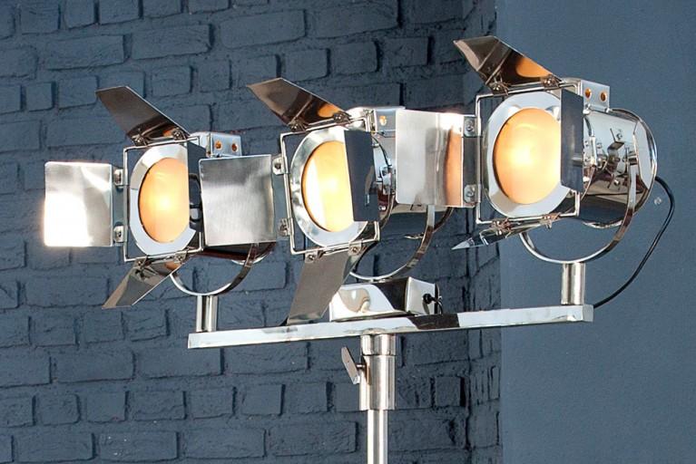 Design Stehleuchte LUX 3er silber 190 cm höhenverstellbar