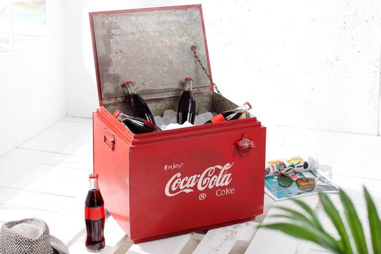 Stylische Getränke Box im Retro Design 45 cm rot