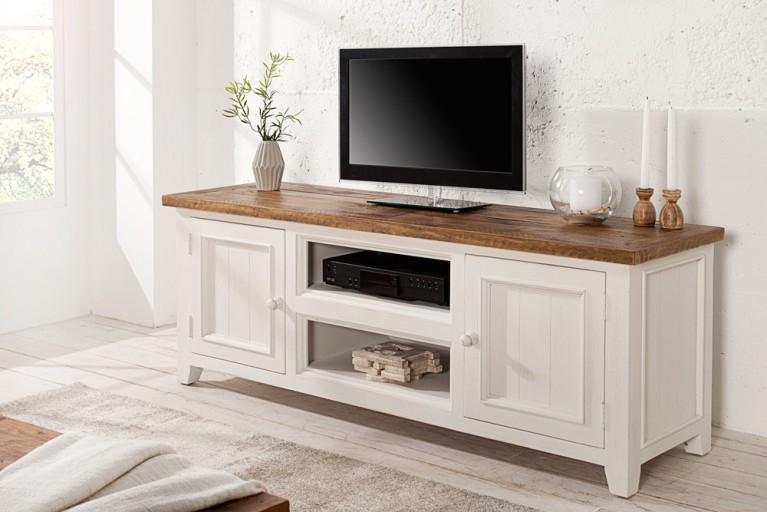 modernes design lowboard baltic 150cm edelmatt wei echt eiche tv board riess. Black Bedroom Furniture Sets. Home Design Ideas
