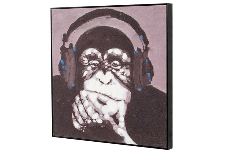 Handgemaltes Ölgemälde URBAN APE hochwertiges Original in Galerie Qualität 50 x 50 cm