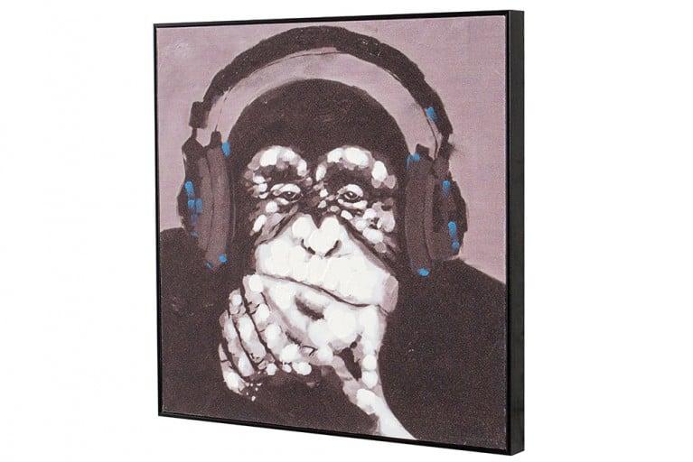 Handgemaltes Bild URBAN APE in Galerie Qualität 50x50cm Affe