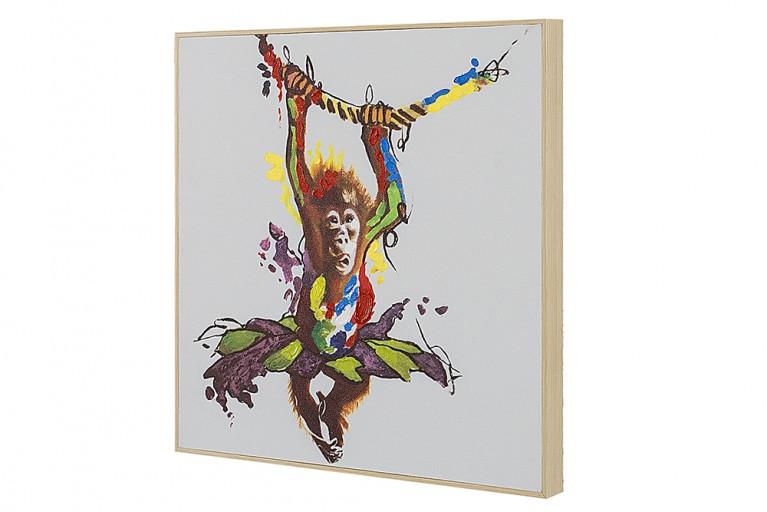 Handgemaltes Ölgemälde LITTLE APE hochwertiges Original in Galerie Qualität 50 x 50 cm