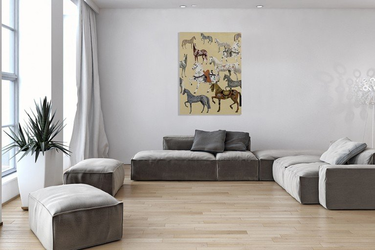 Handgemaltes Bild HERITAGE I in Galerie Qualität 120x90cm Ölgemälde