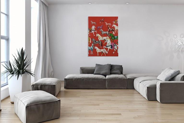 Handgemaltes Ölgemälde HERITAGE II hochwertiges Original in Galerie Qualität 120x90cm
