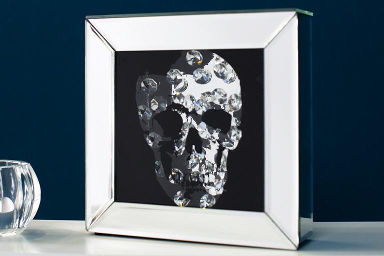 Exklusives Bild SKULL Diamond 20x20cm Deko Objekt