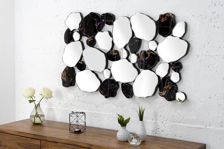 Opulenter Design Spiegel MARBLE 90 cm Marmoroptik