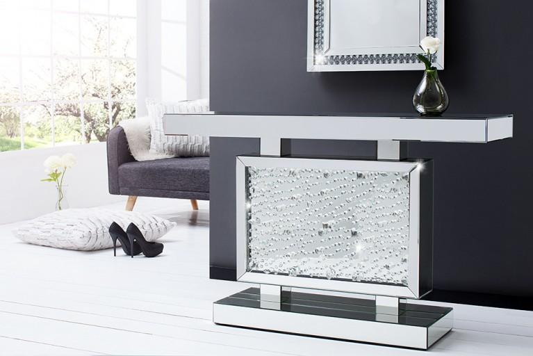 Verspiegelte Design Konsole BRILLIANT 120 cm Spiegelkonsole