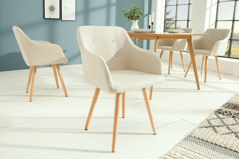 Shabby chic esstisch maison belle affaire 180cm vollmassiv for Stuhl scandinavian design