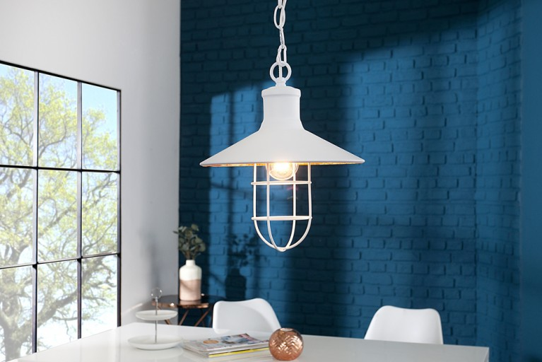 Design Hängelampe CEILING LAMP 30 cm weiß Industrielampe Designklassiker
