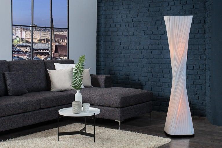 Moderne Design Stehlampe HARMONY weiß 120cm Stehleuchte