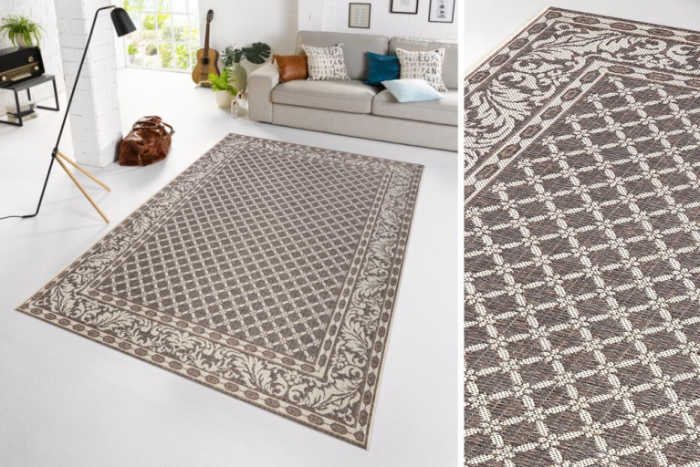 Eleganter In- & Outdoorteppich LOTUS Royal 160 x 230cm grau Lotus Summer Collection