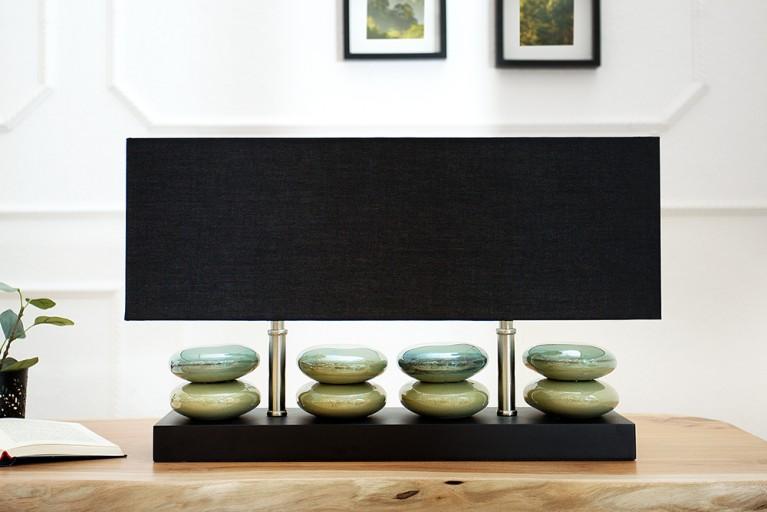 Ausdrucksstarke Tischleuchte LIQUID STONES schwarz 55 cm