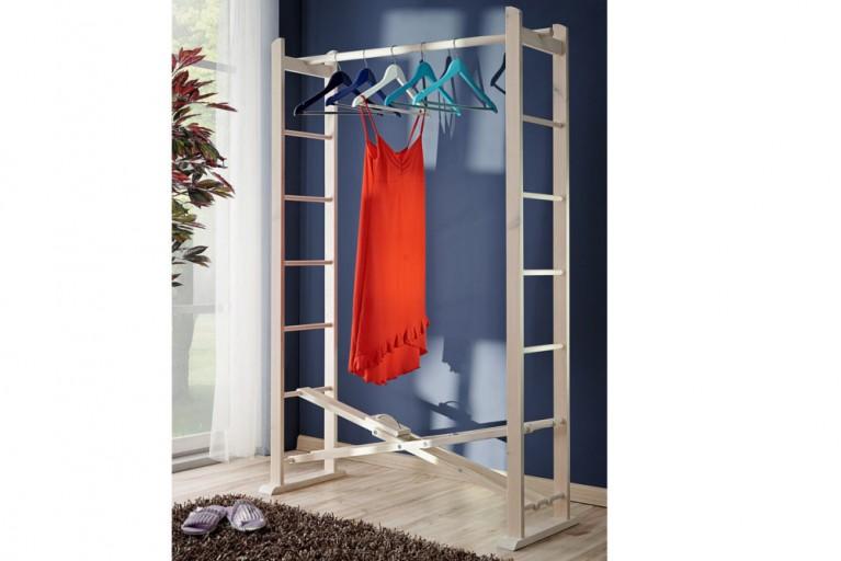faltbare Garderobe CATWALK Massivholz 100cm Buche hell Kleiderständer