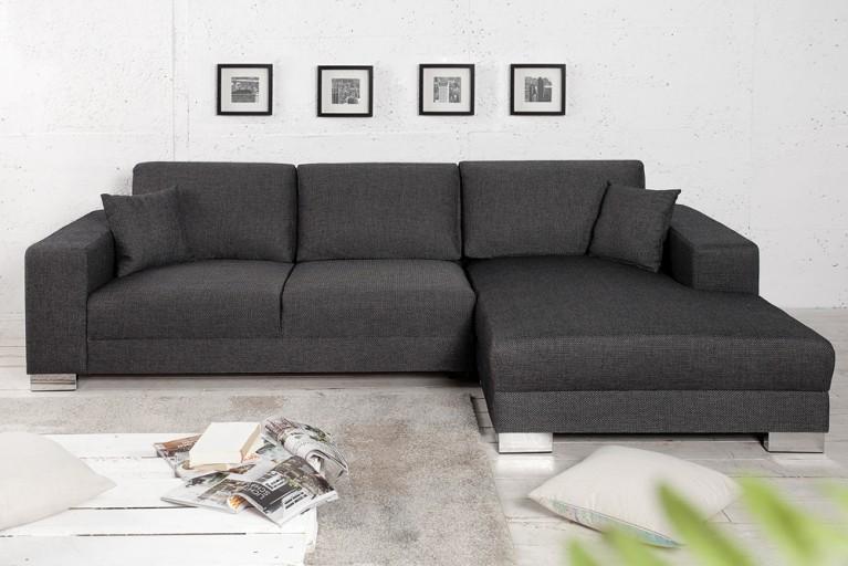 Design Ecksofa COSI mit Schlaffunktion grau Original CANDY Lifestyle inkl. Kissen