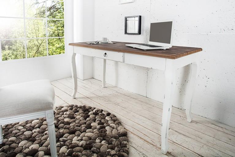 Shabby Chic Schreibtisch/Esstisch MAISON BELLE AFFAIRE 140cm Vollmassiv Pinie