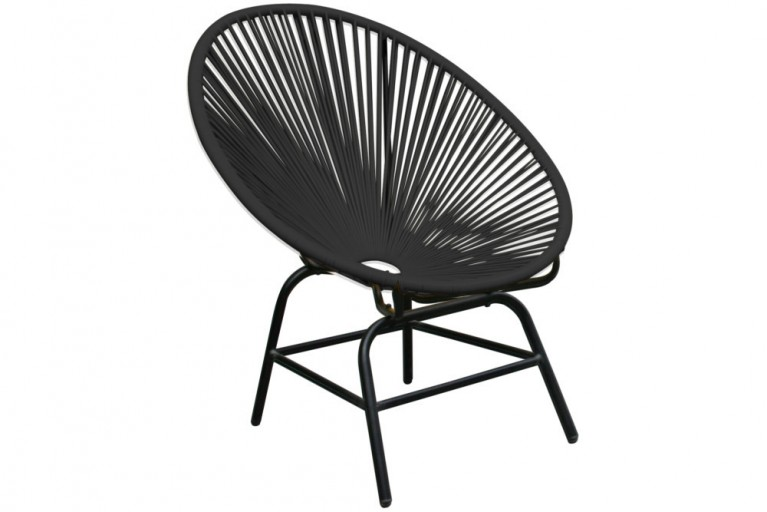 Designklassiker ACAPULCO Chair anthrazit Garten Pool Indoor Stuhl