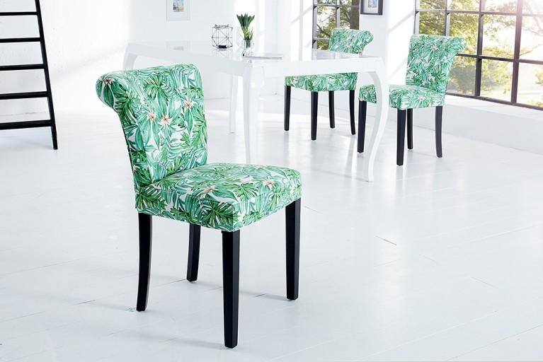 Design Stuhl PARADISE florales Botanik Muster mehrfarbig
