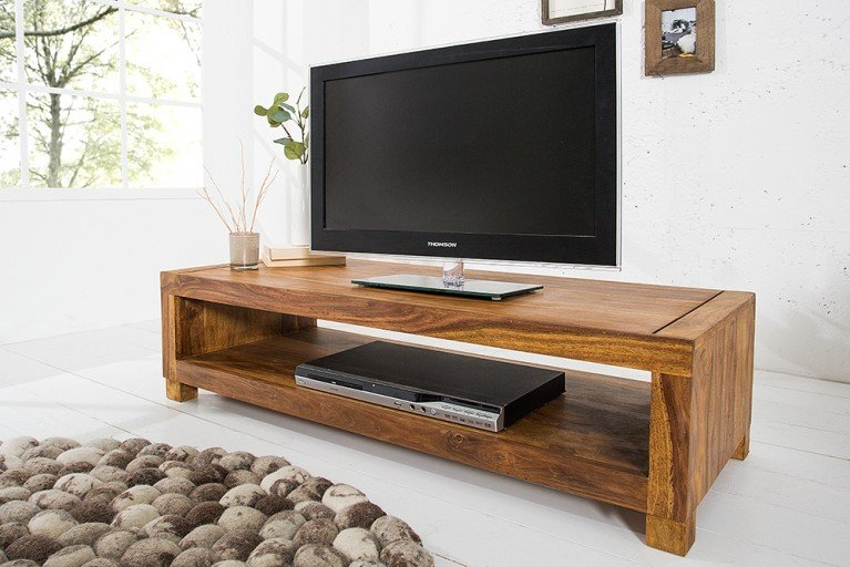 Massives Design TV-Board Couchtisch MADEIRA 110cm Sheesham
