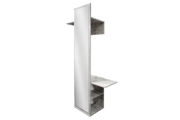 Moderne Design Garderobe CEMENT 200 cm Beton-Optik Sichtbeton