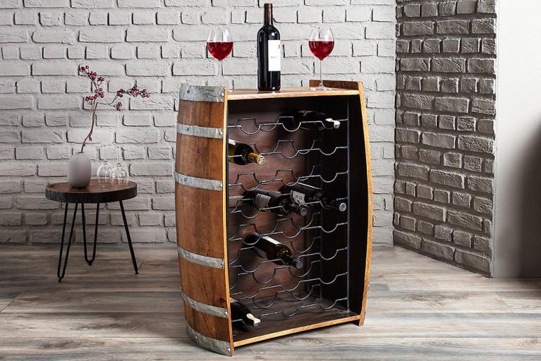 Extravaganter Weinfass Stehtisch CASK 90cm Weinregal Bartisch