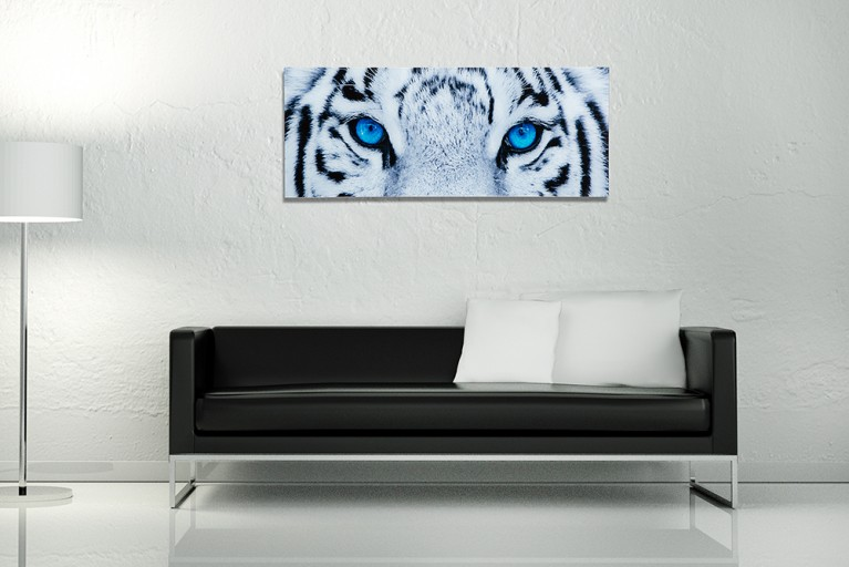 Faszinierendes Bild FIXION 40x100cm Glas Wandbild Tiger Kunstdruck
