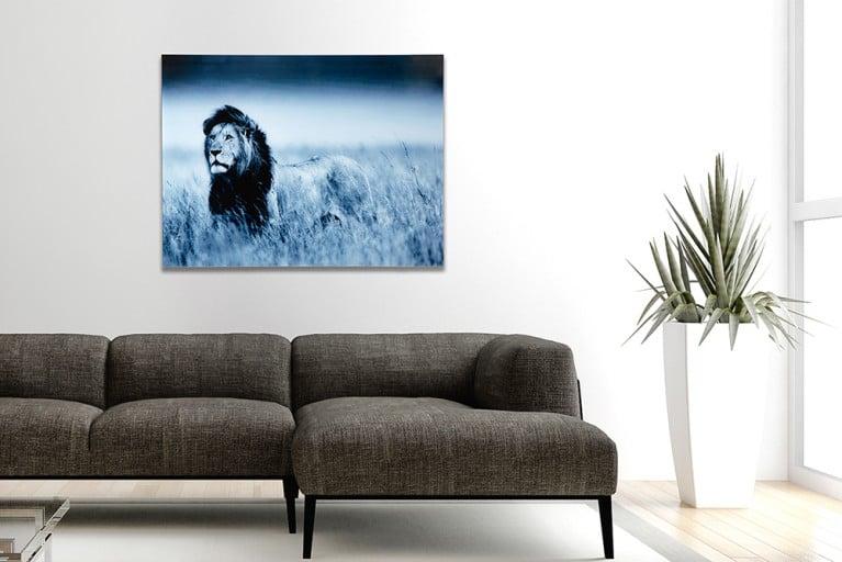 Faszinierendes Bild LION KING 60x80cm Glas Wandbild Löwe Kunstdruck