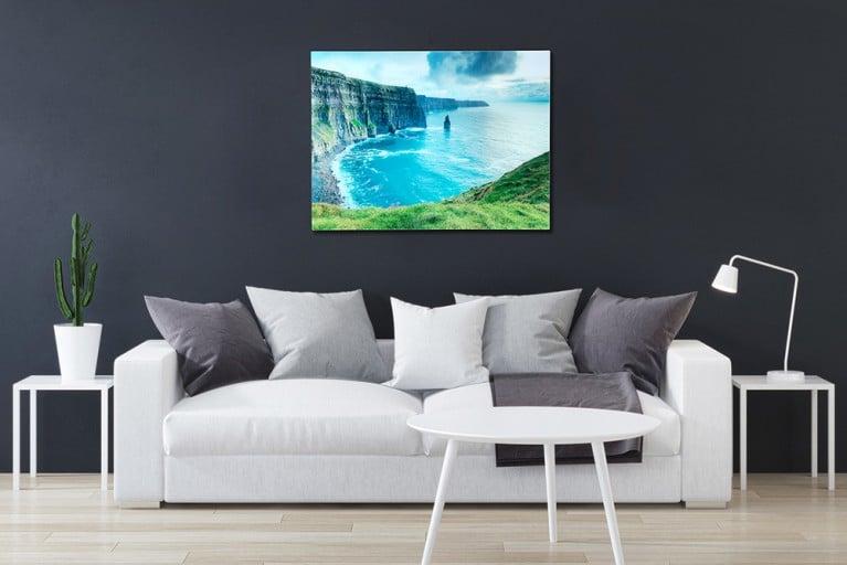 Eindrucksvolles Bild IRELAND 60x80cm Glas Wandbild Irland Kunstdruck