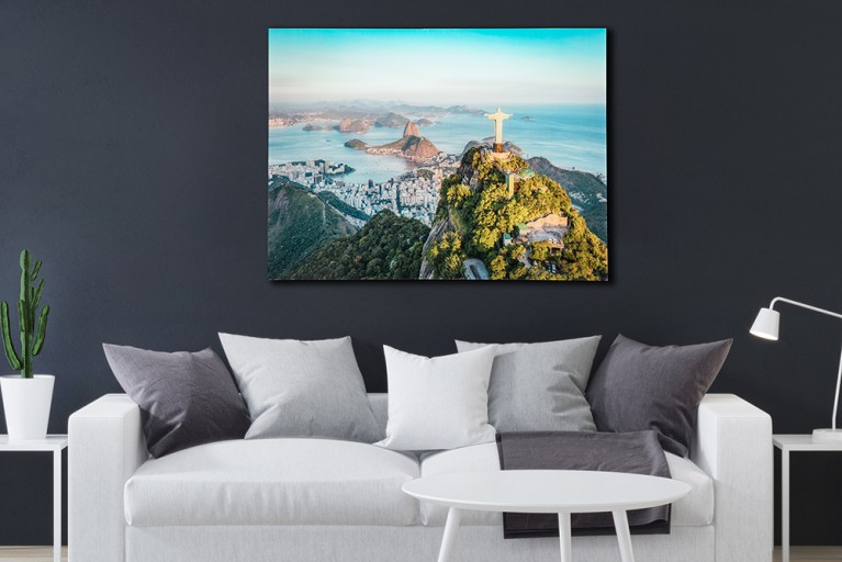 Eindrucksvolles Bild RIO 60x80cm Glas Wandbild Kunstruck