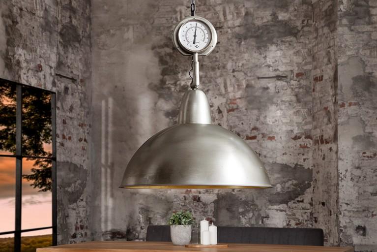 Design Hängeleuchte HIGH PRESSURE XL silber Nickel Industrial Look