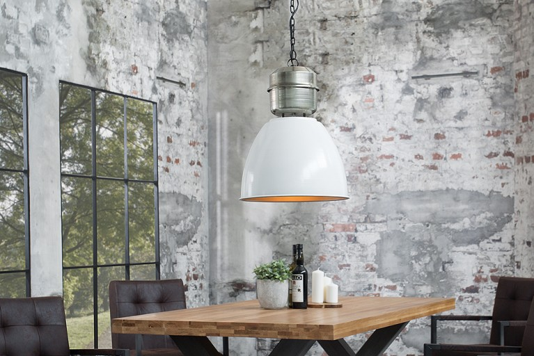 design industrie h ngeleuchte factory xl wei nickel used. Black Bedroom Furniture Sets. Home Design Ideas
