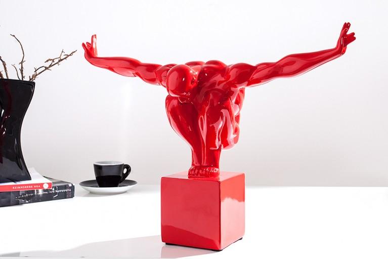Design Statue ATHLET I 45cm rot Dekofigur Sportler