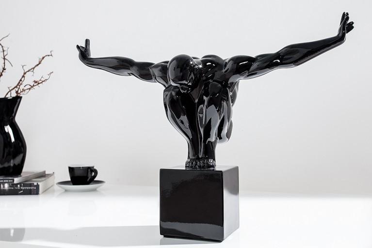 Design Statue ATHLET I 45cm schwarz Dekofigur Sportler