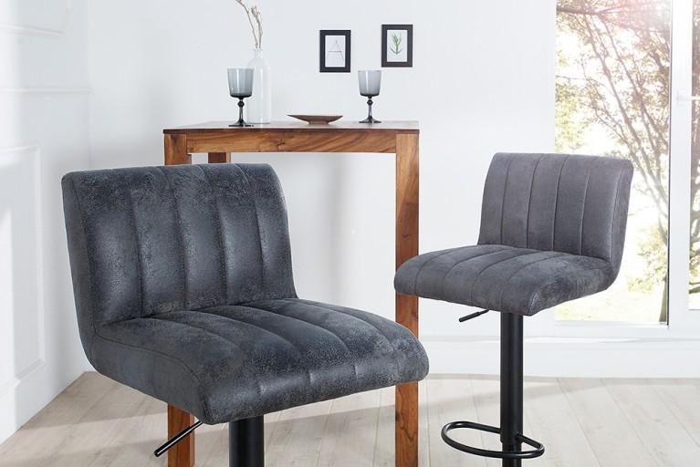 Angesagter Design Barhocker PORTLAND vintage grau Barstuhl Hocker