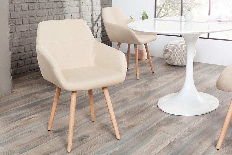 Moderner Stuhl BALTIC Massiv Buche Gestell natur Strukturstoff