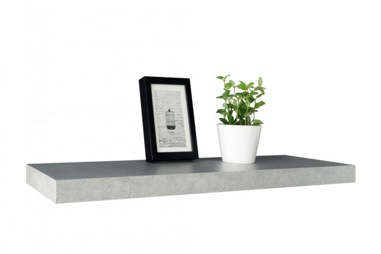 Design Wandregal CEMENT 90cm beton-optik Wandboard Regal