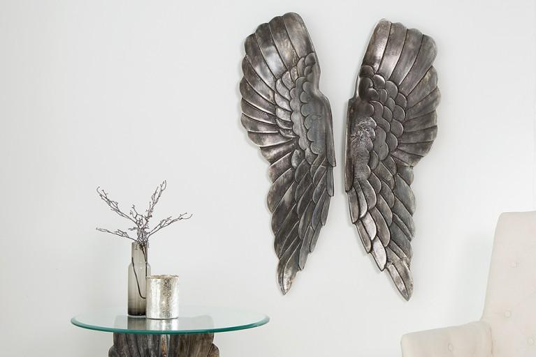 Riesige Wanddekoration FALLEN ANGEL 65cm Engelsflügel
