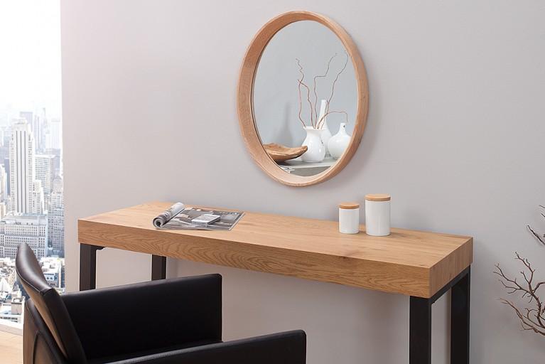 Hochwertiger Spiegel OAK oval nordamerikanische Eiche