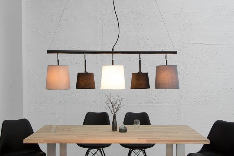 Moderne Hängeleuchte LEVELS 100cm schwarz grau weiß Deckenlampe