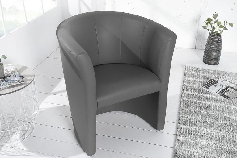 Stylischer Cocktailsessel ART DECO graphit Sessel