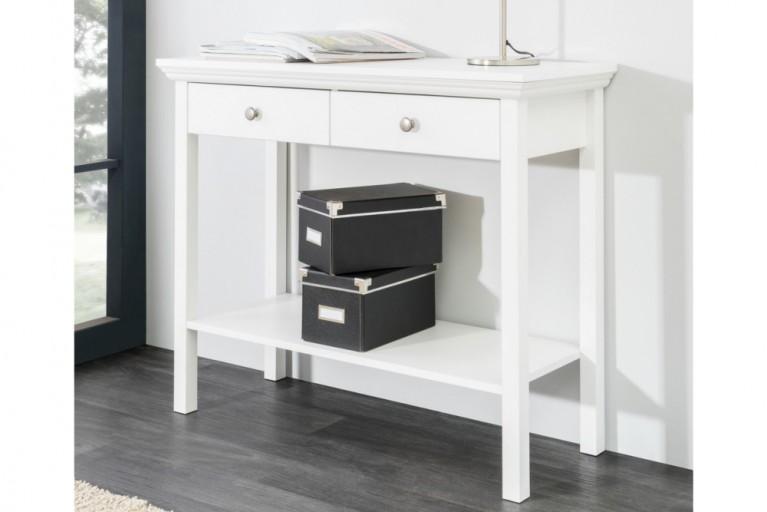 Klassische Design Konsole PROVENCE 90cm weiß Landhausstil mit Schubladen