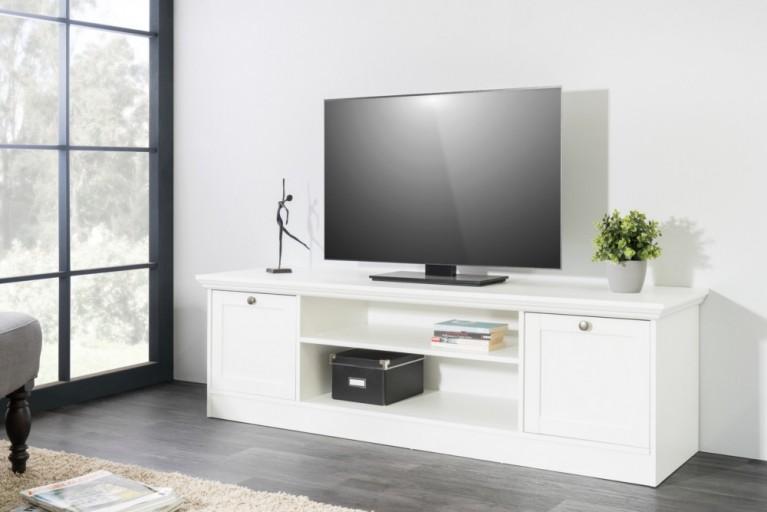 Klassisches Design TV-Board PROVENCE 160cm weiß Landhausstil