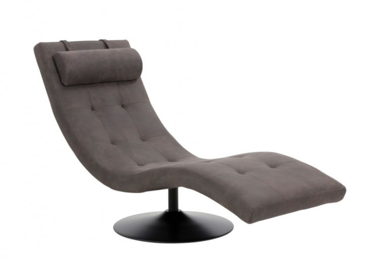 Beautiful Design Liege Relaxo Grau Mit Steppung Relaxliege With Bequeme  Sessel.