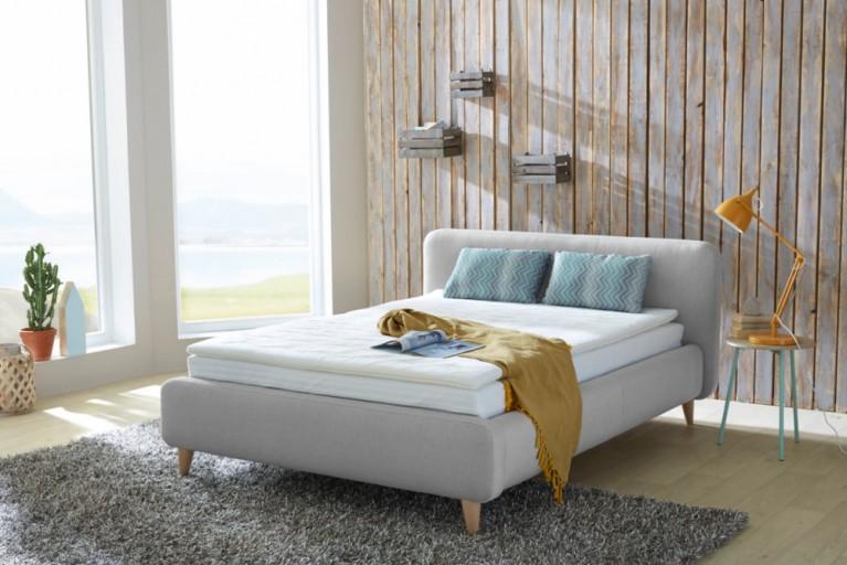 design retro beistelltisch scandinavia grau eiche nachttisch mit ablagefach riess. Black Bedroom Furniture Sets. Home Design Ideas
