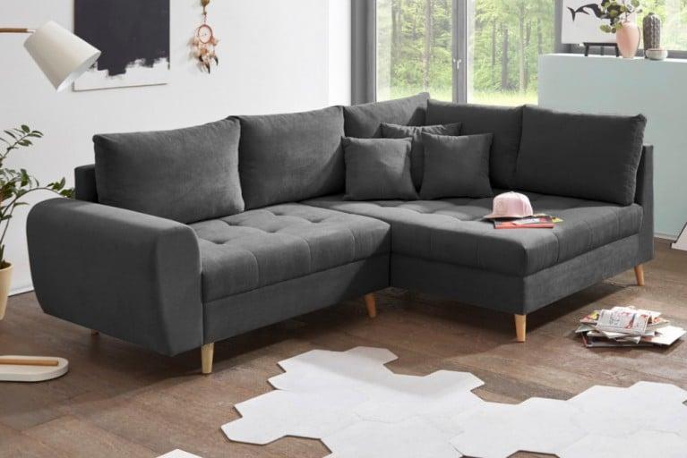 Beautiful Design Ecksofa Baltic Anthrazit Cm Nosag Polsterung Mit Kissen  With Couch Anthrazit