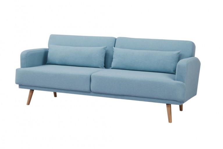 31d9cf313c46ec Elegantes 3-Sitzer Sofa STUDIO 214cm aqua inkl. Kissen mit Schlaffunktion