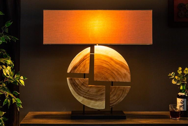 Design Tischlampe ORGANIC ARTWORK 55cm Walnussholz Massivholz Tischleuchte