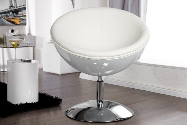 Design Cocktail Sessel GALAXY weiss total