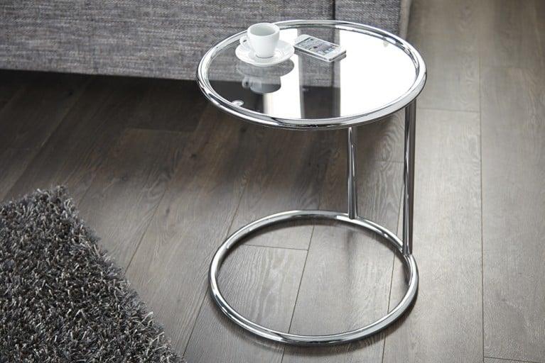 Design Beistelltisch Original ART DECO 55cm chrom Glas